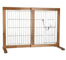 Posuvná bariéra do dveří pro psy a štěňata 61-103x75x40 cm