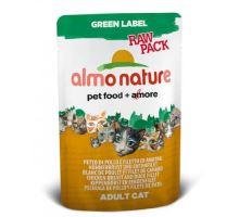 Almo Cat Nat.kočka kaps Green Lab. Raw kuře+kachna 55g