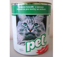 Pet Katze masové kostky se srdcem pro kočky 855g