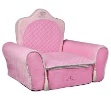 MY PRINCESS plyšové křeslo-trůn růžové 55x44x40 cm