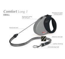 Vodítko FLEXI Comfort Long 1 8m/12kg Lanko červená