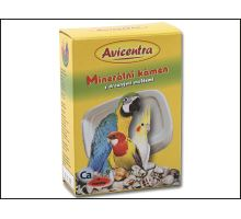 Blok minerální AVICENTRA s drcenými mušlemi pro papoušky 1ks