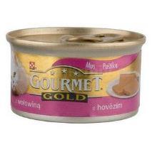 Gourmet Gold konzerva kočka jemná paštika hovězí 85g