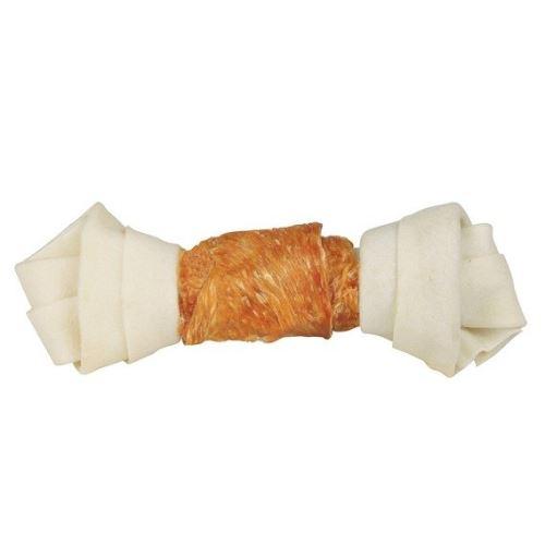 DENTAfun-uzel svázaný kuřecím masem 1ks 18cm / 120g