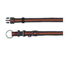FUSION nylonový obojek S- M 30-45 cm / 17 mm - černo-oranžový