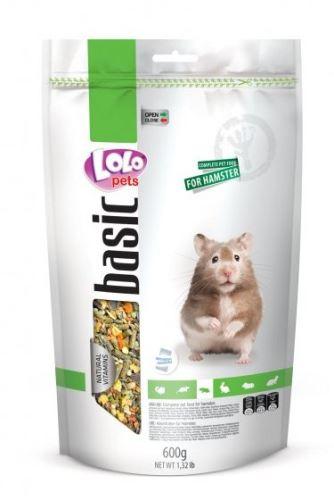 LOLO BASIC kompletní krmivo pro křečky 600 g Doypack