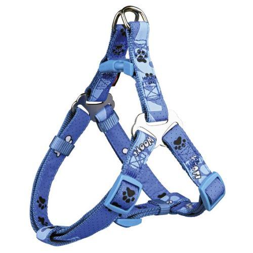 Postroj D-Ring Modern Art WOOF XS-S 30-40 cm / 15 mm modrý