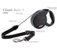 Vodítko FLEXI Classic 3 (L) 5m/50kg Lanko černá