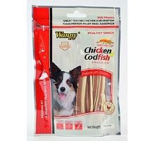 Wanpy Dog pochoutka Chicken Cod Fish Sandwich 170g