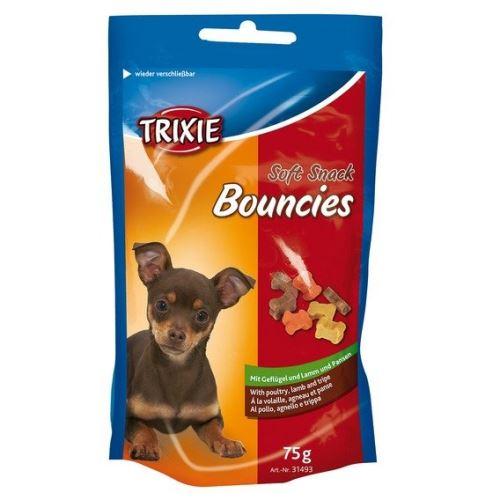 Soft Snack BOUNCIES mini kostičky kuřecí,jehněčí,dršťky 75g