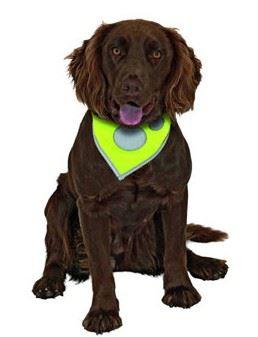Šátek na krk reflex Safety Dog Žlutý 48-60cm KARLIE
