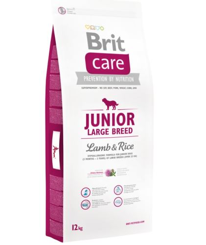 Brit Care Dog Junior Large Breed Lamb & Rice 12kg