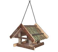 Natural Living krmítko závěsné se střechou z trávy 25x25x25c
