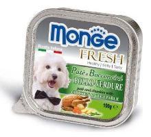 MONGE FRESH - paštika a kousky s kuřetem a zeleninou 100g