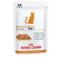 Royal Canin VED Cat Senior Consult Stage1 Pouch 12x100g