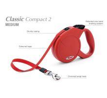 Vodítko FLEXI Classic Compact 2 (M) 5m/25kg Pásek červená
