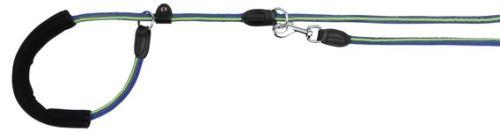 FUSION kulaté vodítko Retrívr s gum.rukojetí M-XL 1,90m/13mm modro-zelený