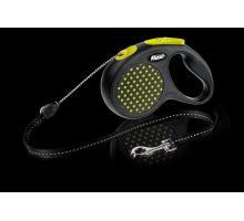 Vodítko FLEXI Design lanko žluté M 1ks