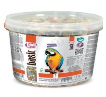 LOLO BASIC kompl.krmivo pro velké papoušky 3L/1,5kg kyblík -