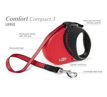 Vodítko FLEXI Comfort Compact 3 5m/60kg Pásek červená