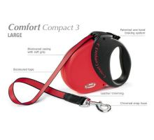 Vodítko FLEXI Comfort Compact 3 5m/60kg Pásek Modrá