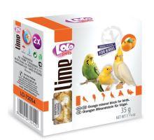 LOLOpets LIME pomerančový minerální kámen pro ptáky 40 g