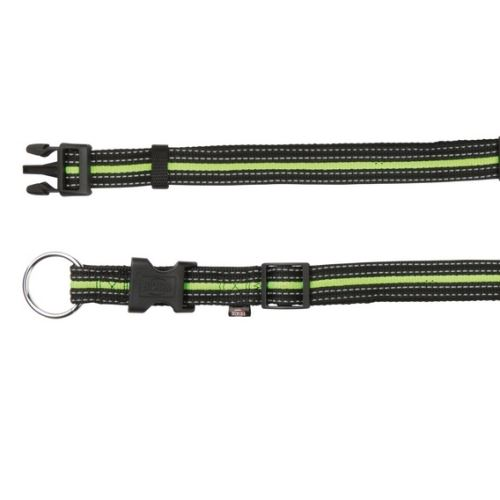 FUSION nylonový obojek L-XL 40-65 cm / 25 mm - černo-zelený