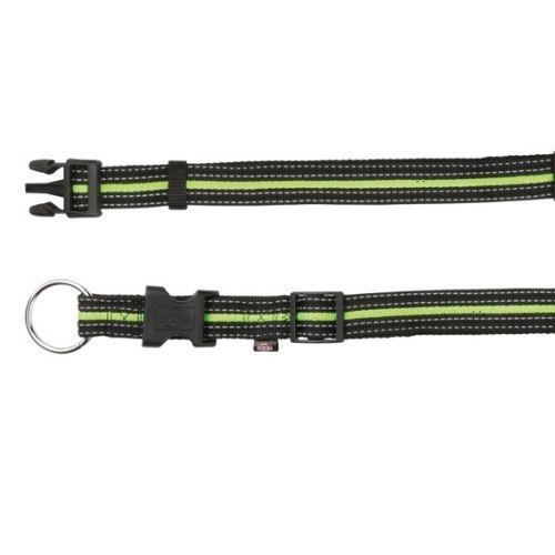 FUSION nylonový obojek M - L 35-55 cm / 20 mm - černo-zelený