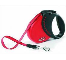 Vodítko FLEXI Comfort Compact 3 5m/60kg Pásek červená VÝPRODEJ