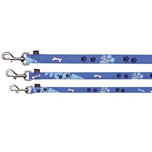 Vodítko Modern Art WOOF M - L 1,00 m / 20 mm modré