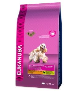 Eukanuba Adult Medium Light / Weight Control 3kg