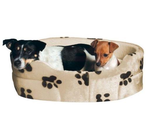 Pelech pro psy CHARLY ovál Béžový s černými tlapkami 70x62cm