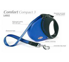 Vodítko FLEXI Comfort Compact 3 5m/60kg Pásek černá