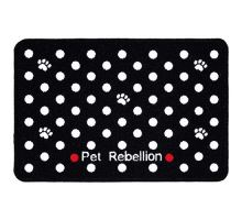 PET REBELLION Kobereček pod misku, puntíkovaný černý 40x60cm