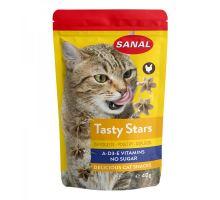 SANAL Cat Tasty Stars Poultry - hvězdičky s př. drůbeže 40 g exp.01/2019