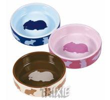 Keramická miska pro křečky barevná 80 ml/8 cm