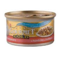 Gourmet Gold konzerva kočka s hovězím a kuřetem 85g