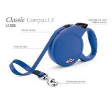 Vodítko FLEXI Classic Compact 3 (L) 5m/60kg Pásek Modrá