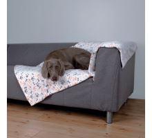 Flísová deka LINGO 150 x 100 cm bílo/béžová