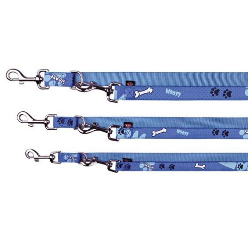Vodítko přepínací Modern Art WOOF M - L 2,00 m / 20 mm modré