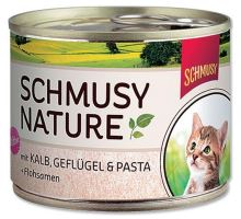 Schmusy Cat Nature Menu konz. Junior telecí + drůbeží 190g