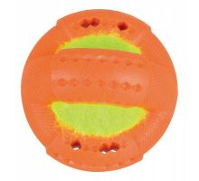 Kroužek s tenisovým míčem TPR 9 cm, termoplastová guma