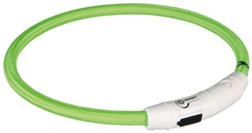 Svítící kroužek USB na krk (zelená) M - L 45 cm