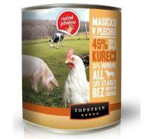 Topstein Masíčko v plechu kuřecí 6 x 850g