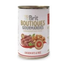 Brit Boutiques Gourmandes Chicken Bits & Paté 400g  VÝPRODEJ