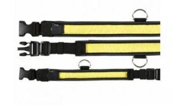 Obojek blikací nylon žluto/černý velikost 40-55/35mm