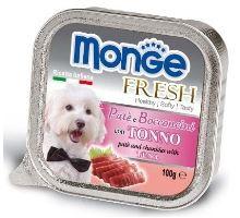 MONGE FRESH - paštika a kousky s tuňákem 100 g pro psy  VÝPRODEJ