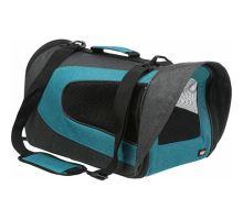 ALINA nylonová přepravní taška se síťkou 27x27x52 cm - antracit/petrolej max.5 kg