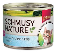 Schmusy Cat Nature Menu konz. Junior losos + jehně 190g