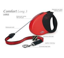Vodítko FLEXI Comfort Long 3 8m/50kg Lanko červená